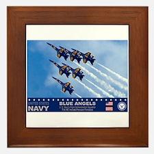 Blue Angels F-18 Hornet Framed Tile