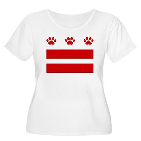 DC Paw Flag Women's Plus Size Scoop Neck T-Shirt