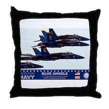 Blue Angels F-18 Hornet Throw Pillow