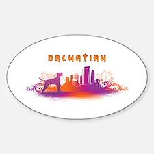 """City"" Dalmatian Oval Decal"