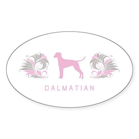 """Elegant"" Dalmatian Oval Sticker"