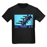 Navy blue angels Kids T-shirts (Dark)