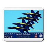 Blue angels f 18 Mouse Pads