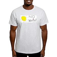 No Worries Ash Grey T-Shirt