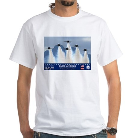 Blue Angels F-18 Hornet White T-Shirt