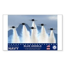 Blue Angels F-18 Hornet Rectangle Decal