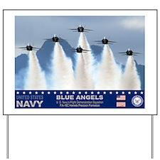 Blue Angels F-18 Hornet Yard Sign