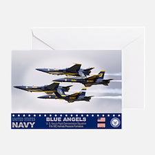 Blue Angels F-18 Hornet Greeting Card