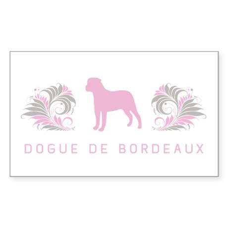 """Elegant"" Dogue de Bordeaux Rectangle Sticker 10"