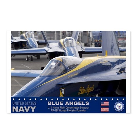 Blue Angels F-18 Hornet Postcards (Package of 8)