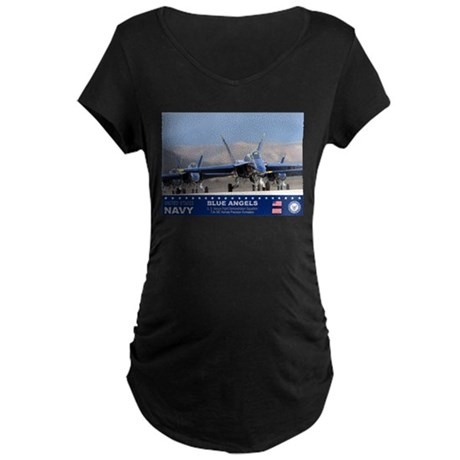 Blue Angels F-18 Hornet Maternity Dark T-Shirt