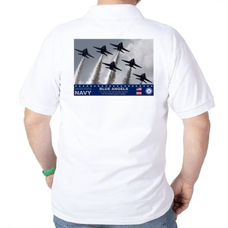 Blue Angels F-18 Hornet Golf Shirt