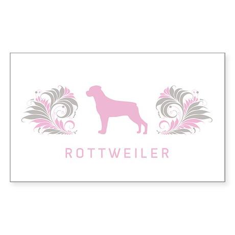 """""""Elegant"""" Rottweiler Rectangle Sticker"""