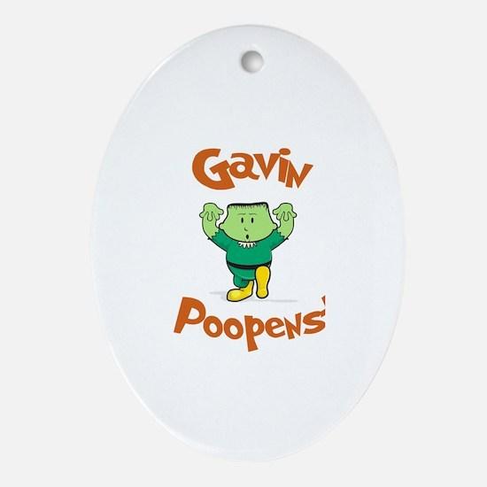 Gavin - Mr. Poopenstein Oval Ornament
