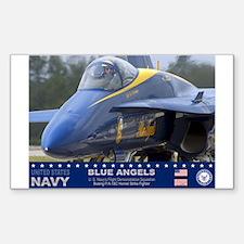 Blue Angels F-18 Hornet Rectangle Decal