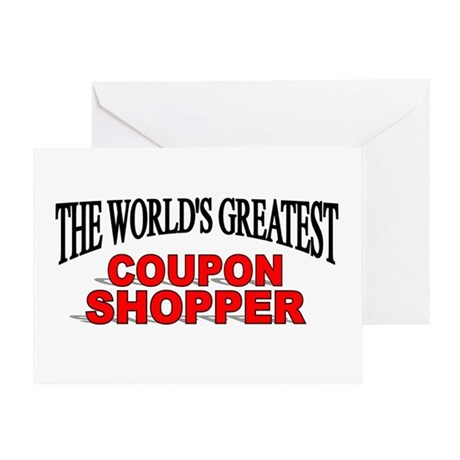 """""""The World's Greatest Coupon Shopper"""" Greeting Car"""