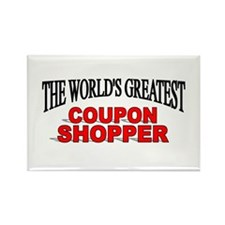 """The World's Greatest Coupon Shopper"" Rectangle Ma"