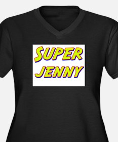Super jenny Women's Plus Size V-Neck Dark T-Shirt