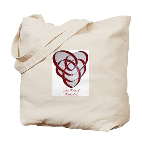 Celtic knot of motherhood tote bag