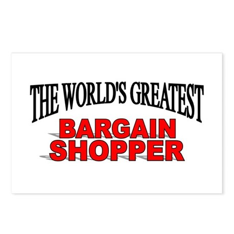 """The World's Greatest Bargain Shopper"" Postcards ("
