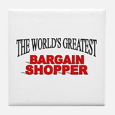 """""""The World's Greatest Bargain Shopper"""" Tile Coaste"""