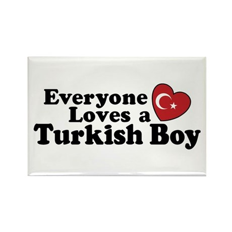 Everyone Loves a Turkish Boy Rectangle Magnet