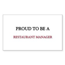 Proud to be a Restaurant Manager Decal