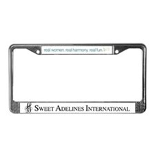 Unique Real women License Plate Frame