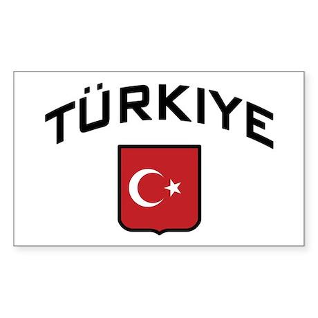 Turkiye Rectangle Sticker