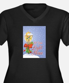 Let Your Light Shine OES Women's Plus Size V-Neck
