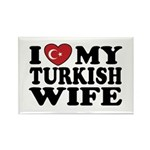 I Love My Turkish Wife Rectangle Magnet