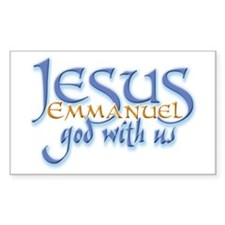 Jesus -Emmanuel God with us Rectangle Decal