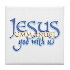 Jesus -Emmanuel God with us Tile Coaster