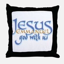 Jesus -Emmanuel God with us Throw Pillow