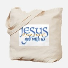 Jesus -Emmanuel God with us Tote Bag