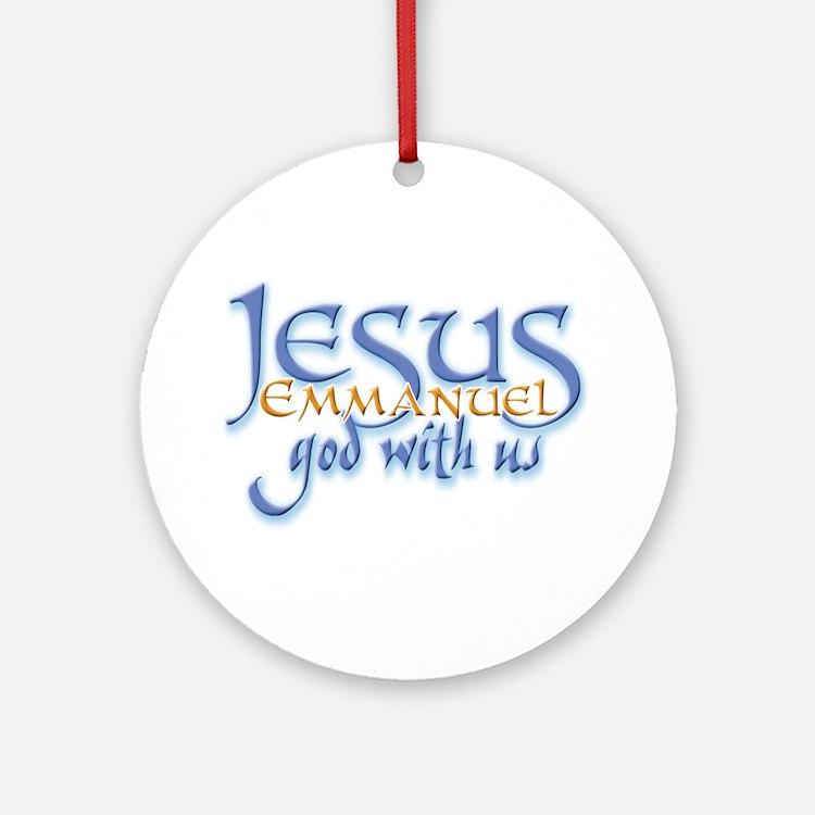 Jesus -Emmanuel God with us Keepsake (Round)