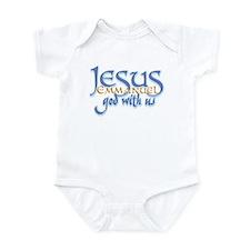 Jesus -Emmanuel God with us Infant Creeper