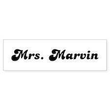 Mrs. Marvin Bumper Bumper Bumper Sticker