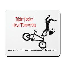 Mousepad with Mountain Bike logo