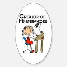 Creator of Masterpieces Sticker (Oval)