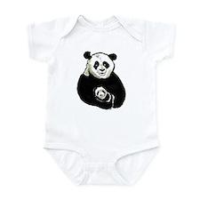 China Panda Infant Bodysuit