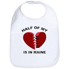 Heart In Maine Bib