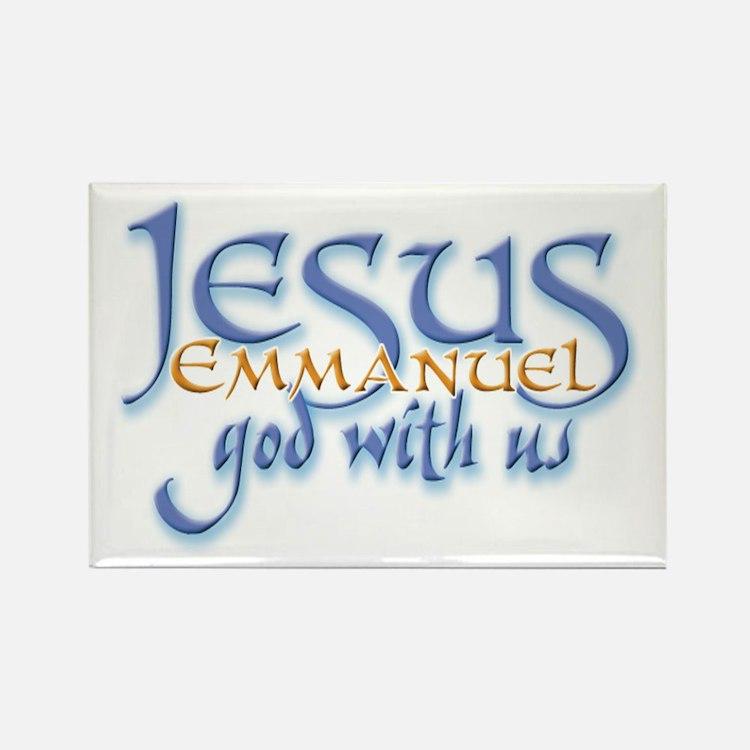 Jesus -Emmanuel God with us Rectangle Magnet