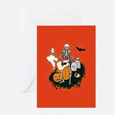 Halloween Skeleton Guitarist Greeting Card