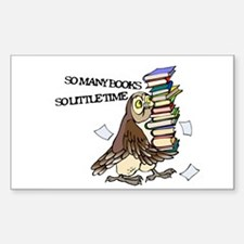 So Many Books Rectangle Decal