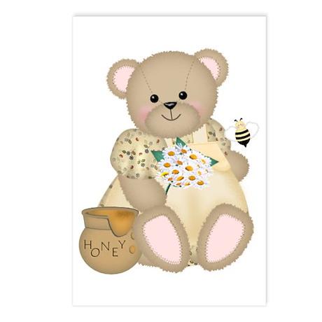 Sweet Honey Bear Postcards (Package of 8)