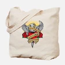 Autism Heart & Dagger Tote Bag