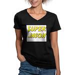 Super jason Women's V-Neck Dark T-Shirt
