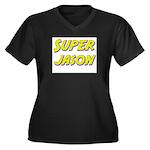 Super jason Women's Plus Size V-Neck Dark T-Shirt