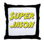 Super jason Throw Pillow